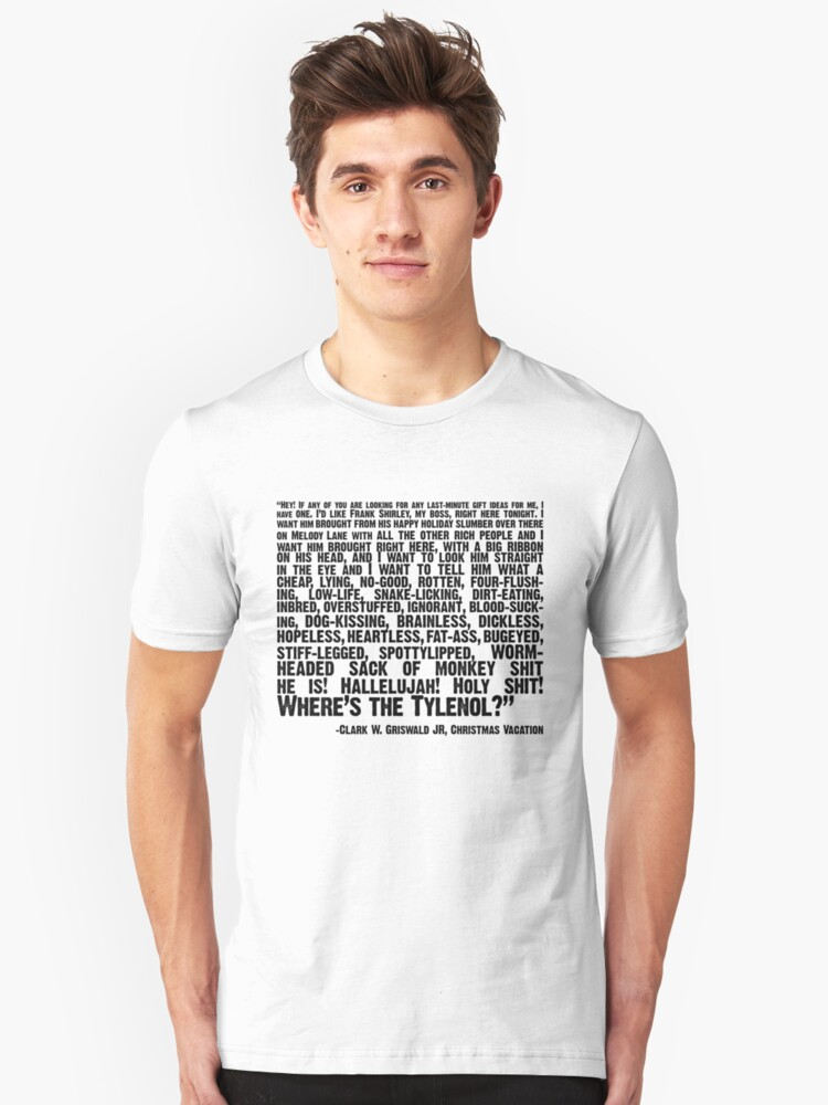 Christmas Vacation Boss Gift.Christmas Vacation Quote Wheres The Tylenol T Shirt By Riley Swart