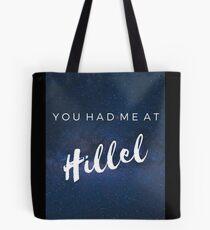 Du hattest mich in Hillel Tasche