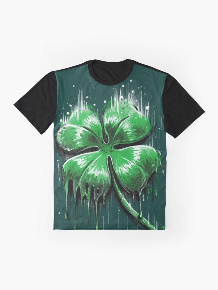 Alternate view of Four Leaf Clover Graphic T-Shirt