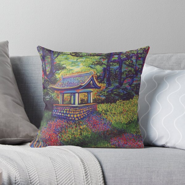 Purifying Well Throw Pillow