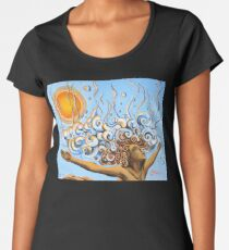 Balance of Life (cut) - Yoga Art from Shee - Surreal Worlds Premium Scoop T-Shirt