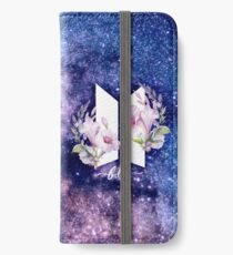 BTS-Galaxie-Blumen iPhone Flip-Case/Hülle/Skin