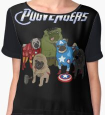 The Pugvengers Women's Chiffon Top
