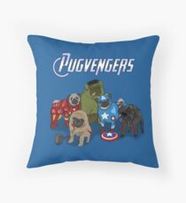 The Pugvengers Throw Pillow