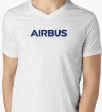 AIRBUS modern logo Men's V-Neck T-Shirt