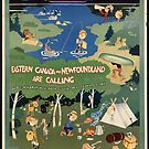 Canada Newfoundland Vintage Travel Advertisement Art Poster by jnniepce
