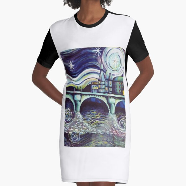 Paris Night Graphic T-Shirt Dress