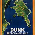 Dunk Australia Vintage Travel Advertisement Art Poster by jnniepce