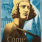 Vintage Come to Germany Travel Vacation Holiday Advertisement Art Posters by jnniepce