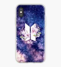 Vinilo o funda para iPhone BTS Galaxy Flowers