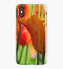 Orange Tulip Garden iPhone Case/Skin