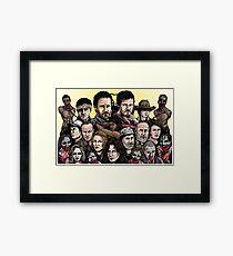 Walking Dead  Framed Print