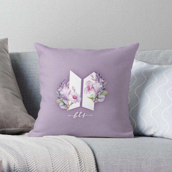 BTS Flowers Throw Pillow