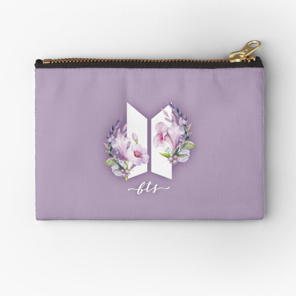 BTS Flowers Zipper Pouch