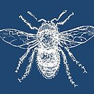 Bee (Blue) by MissElaineous Designs