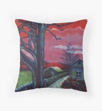 Mystic Grassland Throw Pillow
