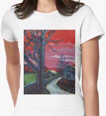 Mystic Grassland Women's Fitted T-Shirt