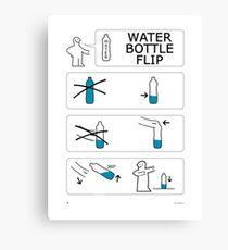 Water Bottle Flip Challenge by IKEA Canvas Print