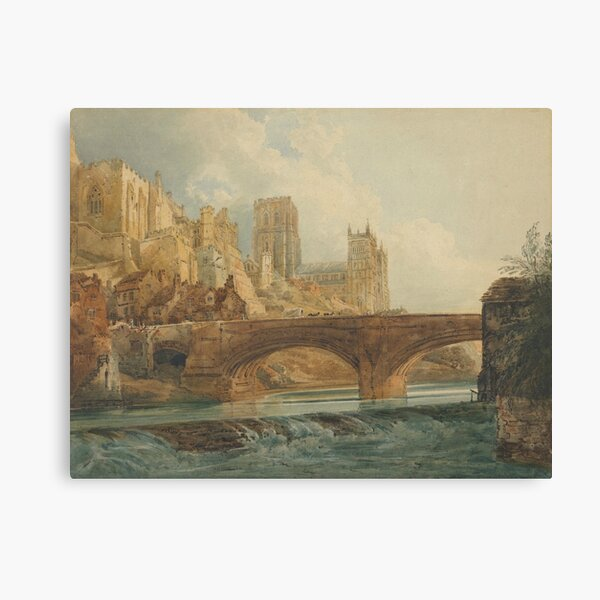 Durham Cathedral and Castle by Thomas Girtin Canvas Print