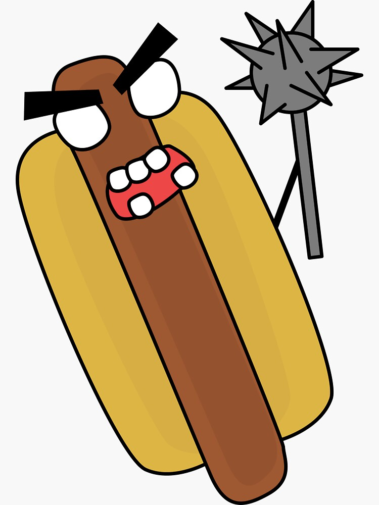 angry zombie hotdog by shortstack