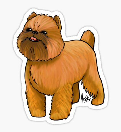 Brussels Griffon Glossy Sticker