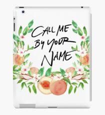 Ruf mich mit deinem Namen Pfirsich an iPad-Hülle & Klebefolie