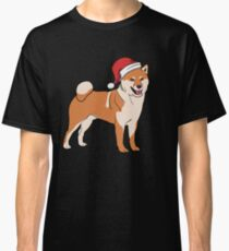 Shiba Inu in Santa Hat Christmas Pajama Merry Christmas Holiday PJ   T-Shirt Sweater Hoodie Iphone Samsung Phone Case Coffee Mug Tablet Case Gift Classic T-Shirt
