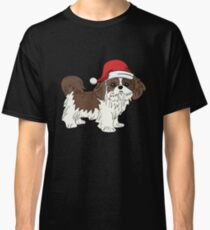 Shih Tzu in Santa Hat Christmas Pajama Merry Christmas Holiday PJ   T-Shirt Sweater Hoodie Iphone Samsung Phone Case Coffee Mug Tablet Case Gift Classic T-Shirt