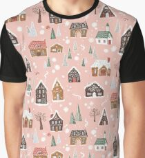 Gingerbread Village Graphic T-Shirt