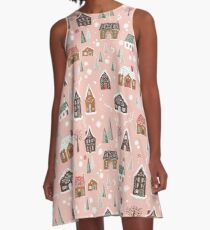 Gingerbread Village A-Line Dress