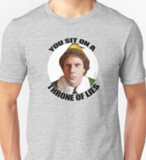 YOU SIT ON A THRONE OF LIES Buddy the Elf Christmas Movie Will Ferrell quote Unisex T-Shirt