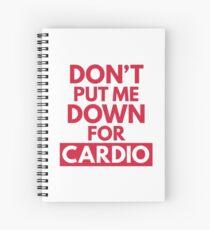 Cuaderno de espiral Down for Cardio Gym Quote