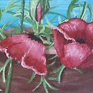Red Poppies Blooming by Karirose