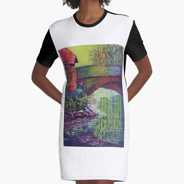 Mystical Enchantment Graphic T-Shirt Dress
