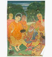 Gautama Buddha Instructs a Wise King Poster