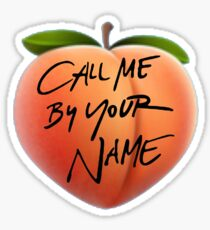 Call Me By Your Name Peach Emoji Sticker