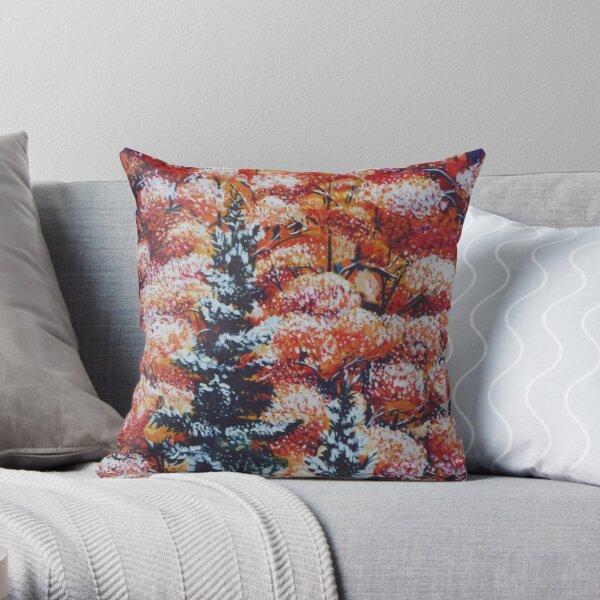 Harmony Between Fall and Winter Throw Pillow