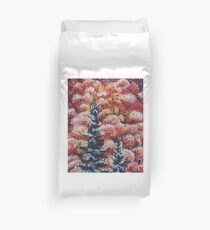Harmony Between Fall and Winter Duvet Cover