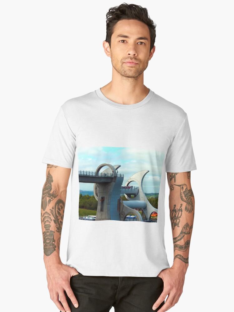 The Falkirk Wheel Men's Premium T-Shirt Front