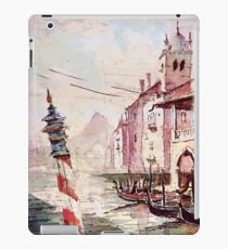 TOKYO DISNEY SEA - Gondola Dock Watercolor  iPad Case/Skin