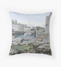 Castletown Quay, Isle of Man Throw Pillow