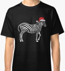 Zebra in Santa Hat Christmas Pajama Merry Christmas Holiday PJ   T-Shirt Sweater Hoodie Iphone Samsung Phone Case Coffee Mug Tablet Case Gift Classic T-Shirt