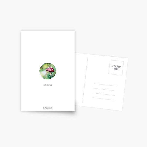 Fliegenpilz, Miniatur Aquarell Postkarte