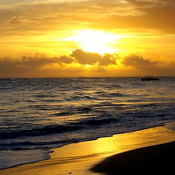 Caribbean sunrise by viba