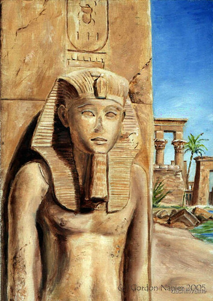 Egyptian Statue by dashinvaine