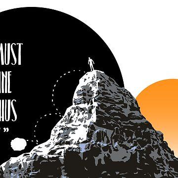 Sisyphus is happy by ihatemyjob