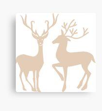 Brown Reindeer  Canvas Print