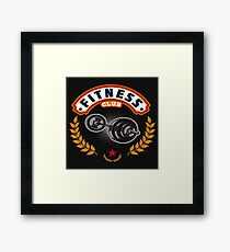 Fitness club. Bar for sports. Healthy lifestyle. Framed Print