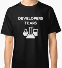 QA Quality Assurance Engineer Funny Developers Tears mugs and tshirts Classic T-Shirt
