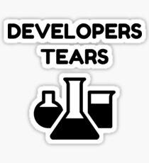 QA Quality Assurance Engineer Funny Developers Tears mugs and tshirts Sticker